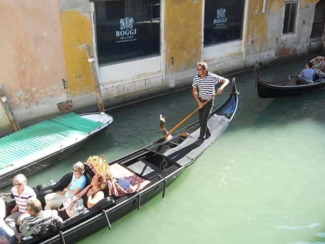 Gondola in motion