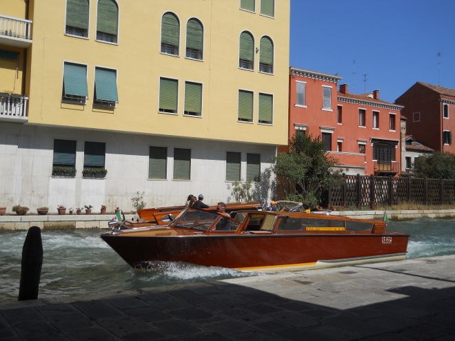 Wooden Water Taxi Underway
